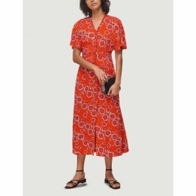 ホイッスルズ WHISTLES レディース ワンピース ミドル丈 ワンピース・ドレス Ella floral-print crepe midi dress MULTI-COLOURED