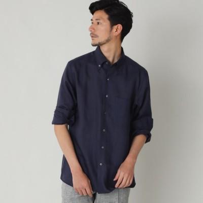 ハイカウントフレンチリネンボタンダウンシャツ(カジュアルシャツ)