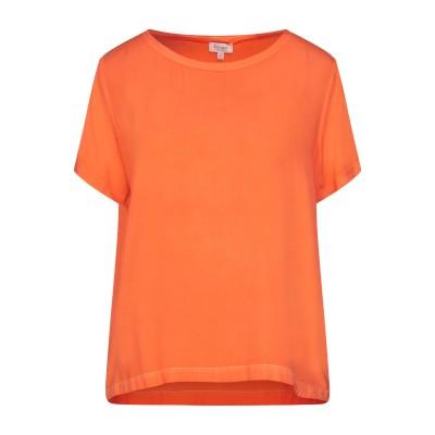 HER SHIRT ブラウス オレンジ XS シルク 94% / ポリウレタン® 6% ブラウス
