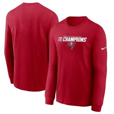 NFL Tシャツ バッカニアーズ 2020NFC優勝記念 ナイキ/Nike レッド メンズ tシャツ 長袖 ロンT ロンt Iconic SB55