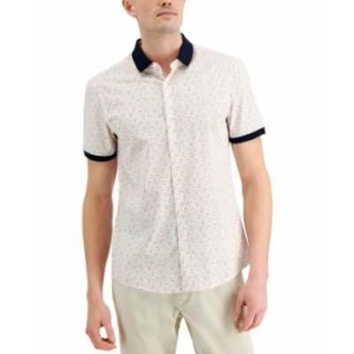 マイケルコース メンズ シャツ トップス Men's Slim-Fit Stretch Multi-Dot Print Shirt Optic Orange