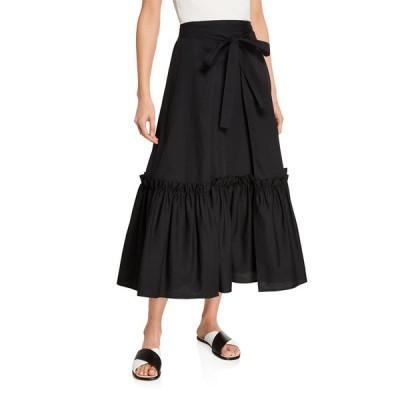 ロゼッタ・ゲッティ レディース スカート ボトムス Gathered Cotton Wrap Skirt