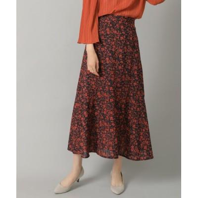 【ブージュルード】 花柄ティアード切り替えスカート レディース ネイビー ONE SIZE Bou Jeloud