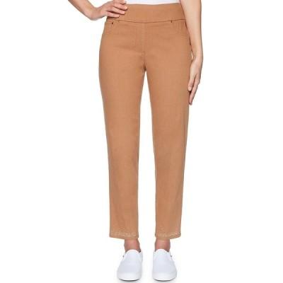 ルビーロード レディース カジュアルパンツ ボトムス Stretch Denim Pull-On Embellished Hem Pants Acorn