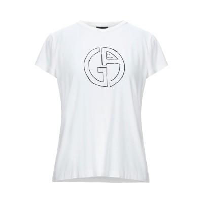 ジョルジオ アルマーニ GIORGIO ARMANI T シャツ ホワイト 42 レーヨン 90% / ポリウレタン 10% T シャツ