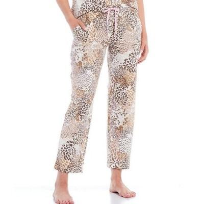 スリープ センス レディース カジュアルパンツ ボトムス Animal & Floral-Printed Knit Cropped Sleep Pants