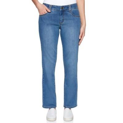 ルビーロード レディース デニムパンツ ボトムス Soft Stretch Denim Straight Leg Ankle Jeans Light Indigo