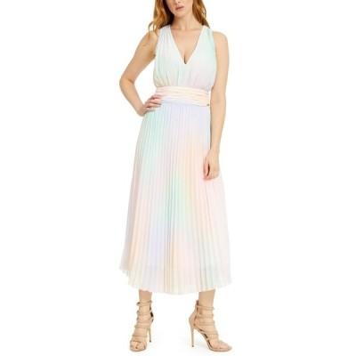 ゲス ワンピース トップス レディース Hind Pleated Maxi Dress Rainbow Combo
