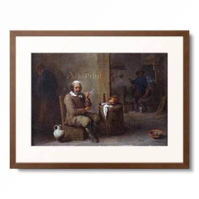 ダフィット・テニールス(子) David Teniers de Jonge 「A Peasant Smoking in an Inn.」