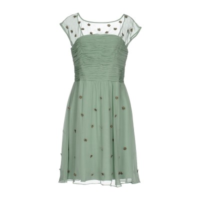 INTROPIA ミニワンピース&ドレス ライトグリーン 40 シルク 100% ミニワンピース&ドレス