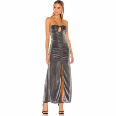 プライバシー プリーズ Privacy Please レディース ワンピース マキシ丈 ワンピース・ドレス Selene Maxi Dress Metallic Silver
