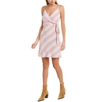 ラベンダーブラウン レディース ワンピース トップス Lavender Brown Striped A-Line Dress red