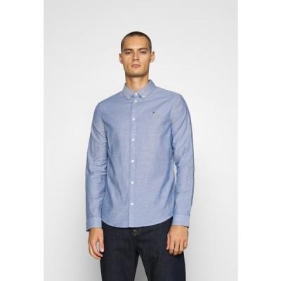 トミージーンズ メンズ ファッション Shirt - blue