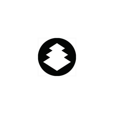 家紋シール 三階菱紋 直径15cm 丸型 白紋 KS15M-1595W