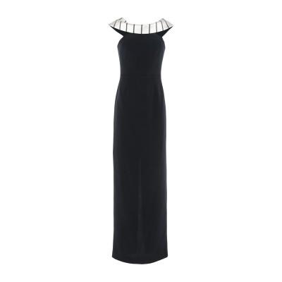 ANTILEA ロングワンピース&ドレス ブラック 40 アセテート 75% / ポリエステル 25% ロングワンピース&ドレス