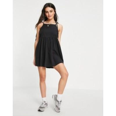エイソス レディース ワンピース トップス ASOS DESIGN soft denim smock dress in washed black Washed black