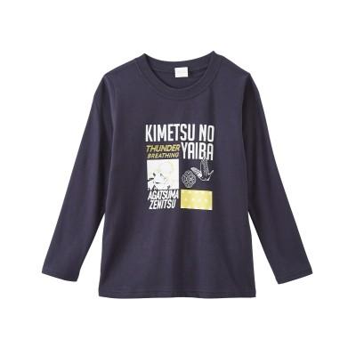 【鬼滅の刃】綿100%プリント長袖Tシャツ(子供服 男の子・女の子) (Tシャツ・カットソー)Kids' T-shirts