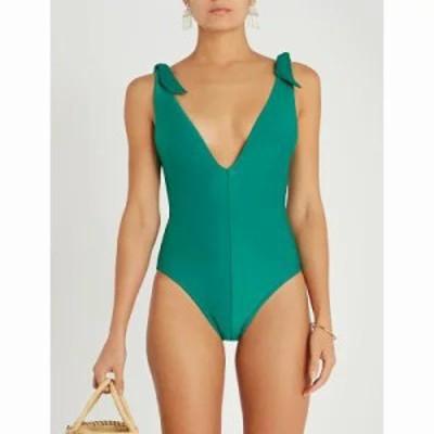 ジマーマン ワンピース heathers tie swimsuit Bottle green