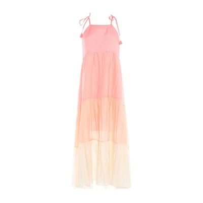 CRISTINAEFFE ロングワンピース&ドレス ピンク 44 レーヨン 70% / シルク 30% ロングワンピース&ドレス