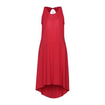 ÉCLÀ 7分丈ワンピース・ドレス レッド 40 レーヨン 60% / ナイロン 35% / ポリウレタン 5% 7分丈ワンピース・ドレス