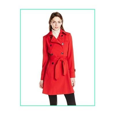 Trina Turk Women's Juliette Double-Breasted Trench Coat, Red, 12並行輸入品