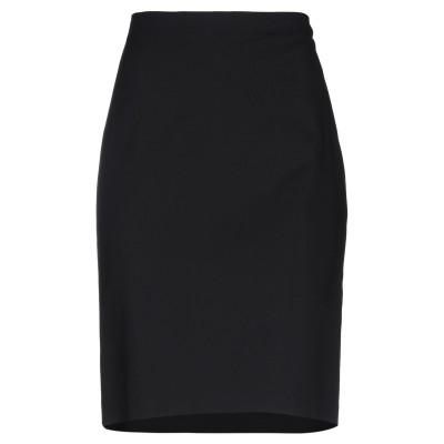 EMMA & GAIA ひざ丈スカート ブラック 48 コットン 55% / ナイロン 42% / ポリウレタン 3% ひざ丈スカート