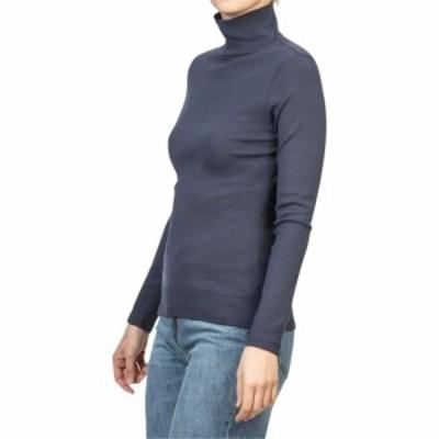 リラピー Lilla P レディース 長袖Tシャツ トップス 1x1 Rib Long Sleeve Turtleneck Tee Dark Navy