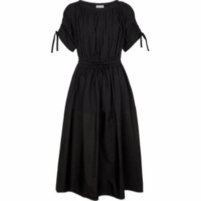 モンクレール Moncler レディース ワンピース ミドル丈 ワンピース・ドレス Pleated midi dress Black