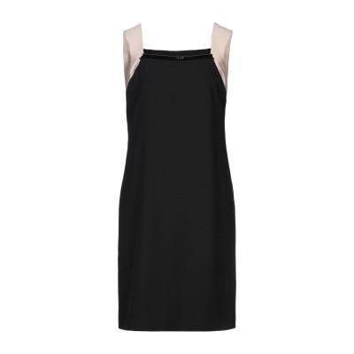 SOLOGIOIE ミニワンピース&ドレス ブラック 44 ポリエステル 95% / ポリウレタン 5% ミニワンピース&ドレス