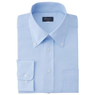 長袖ロイヤルオックスフォードシャツ 長袖ボタンダウンシャツ 3S〜ELL(4L)サイズ サックス、ホワイト GU-5501