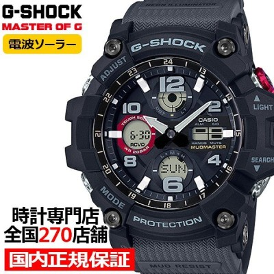 G-SHOCK ジーショック GWG-100-1A8JF カシオ メンズ 腕時計 電波ソーラー アナデジ ブラック マッドマスター 国内正規品 MASTER OF G
