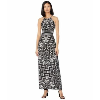ロンドンタイムス ワンピース トップス レディース Print Matte Jersey Diamond Morris Maxi Dress Soft White/Black