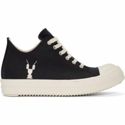 リック オウエンス Rick Owens Drkshdw レディース スニーカー シューズ・靴 black grosgrain low sneakers Black/Milk
