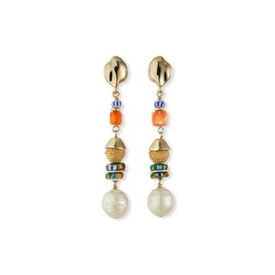 アコラ レディース ピアス・イヤリング アクセサリー Pearl and Mixed-Bead Earrings