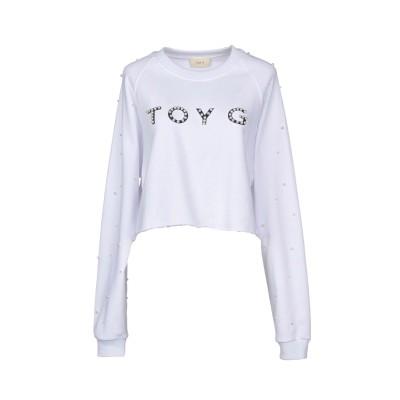 TOY G. スウェットシャツ ホワイト S コットン 100% スウェットシャツ