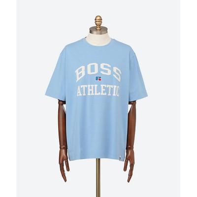 <BOSS(Men)/ボス> リラックスフィット ユニセックス Tシャツ ストレッチコットン エクスクルーシブロゴ OPEN BLUE【三越伊勢丹/公式】