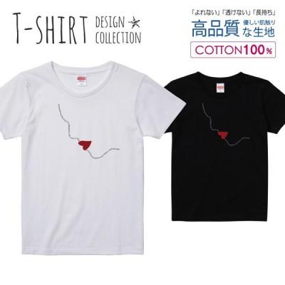 オシャレ ハート Tシャツ レディース ガールズ かわいい サイズ S M L 半袖 綿 プリントtシャツ コットン ギフト 人気 流行 ハイクオリティー