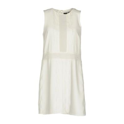 ELISABETTA FRANCHI ミニワンピース&ドレス ホワイト 40 ポリエステル 100% / ポリウレタン / ナイロン ミニワンピース