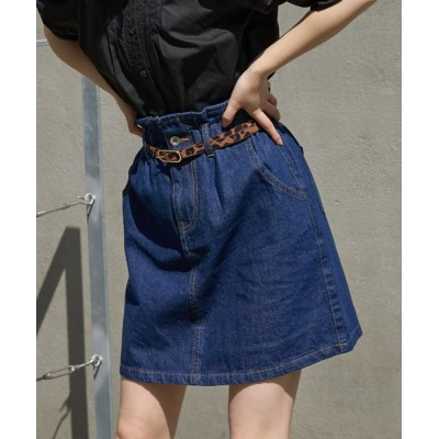 one after another NICE CLAUP / 【ZOZO限定】ミニ台形デニムスカート WOMEN スカート > デニムスカート