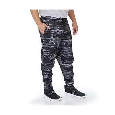 Zubaz NFL Dallas Cowboys Mens Polyester Fleece Jogger, Tonal Black/Gray Oxide, X-Large, Multi