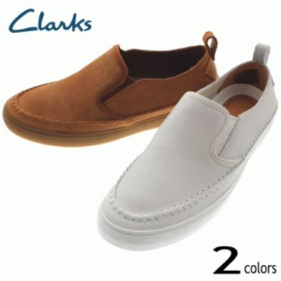 クラークス Clarks ケセル スリップ Kessell Slip 093J ホワイト (WHIT) タン (TAN)