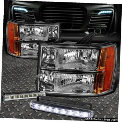 グリル CLEAR LENSヘッドライト+ AMBER CORNER + 07から14 GMC SIERRA FOR 8 LED GRILL FOG LIGHT CLEAR LENS HEADLIGHT+AMBER CORNER+8 LED GRILL FO