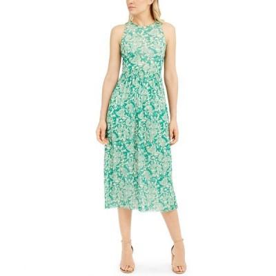 マレーラ ワンピース トップス レディース Printed Gathered-Waist Dress Grass Green