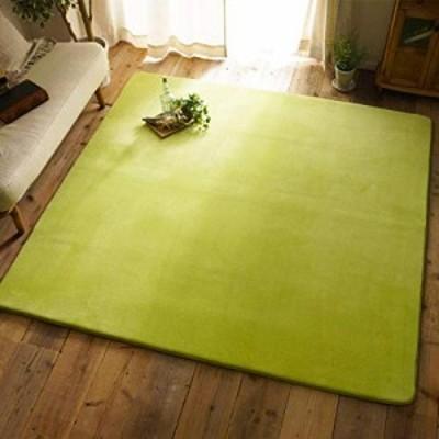 【送料無料】Leesentec カーペット ラグ 洗える 滑り止め 方形 2色選べる 1年中使えるタイプ (グリーン, 185*185cm)