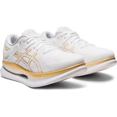 アシックストレッキング メタライド MetaRide 1012A130.100 ジョギングホワイト×ゴールド