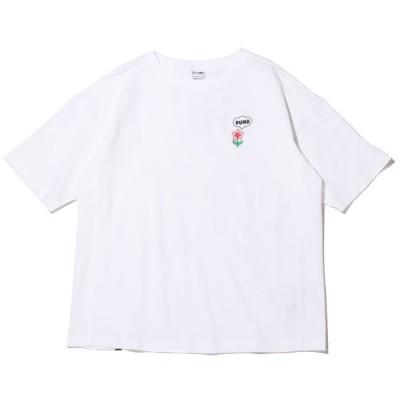 プーマ PUMA 半袖Tシャツ ダウンタウン グラフィック ティーシャツ (Puma White) 21SP-I