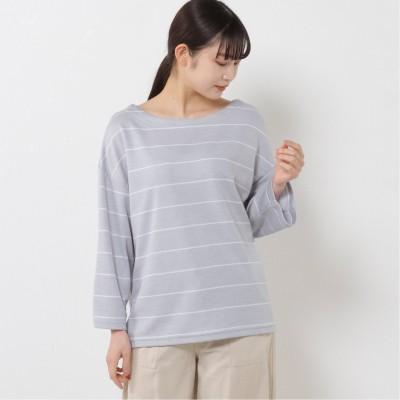 ポンチボートネックドロップTシャツ【M―3L】