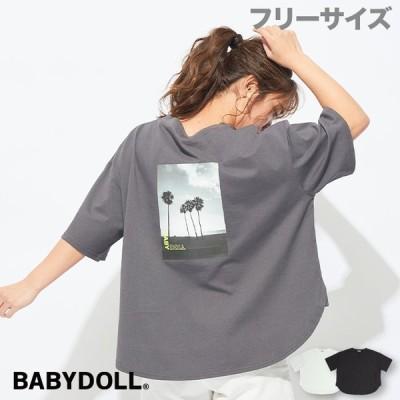 ベビードール BABYDOLL 子供服 Tシャツ バックプリント 5067A 大人 レディース 30v