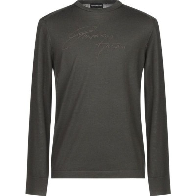 アルマーニ EMPORIO ARMANI メンズ ニット・セーター トップス sweater Dark green