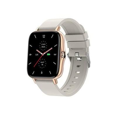 スマートウォッチ Bluetooth通話 1.7インチ大画面 着信通知 腕時計 活動量計 多種類運動モード 音楽再生 ストップウォッチ FB/Twit